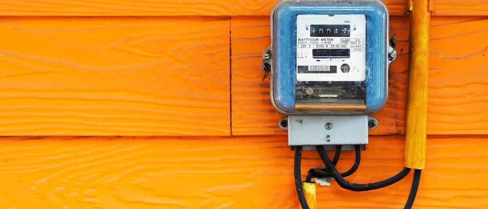 Picture of a prepaid electricity meter in Texas
